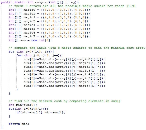 """Daily Java """"Day 17"""" Hackerrank (Rookie Rank) Magic Square"""